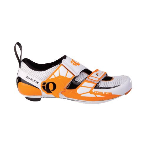Mens Pearl Izumi P.R.O. Series Tri Fly IV Carbon Cycling Shoe - White 46.5