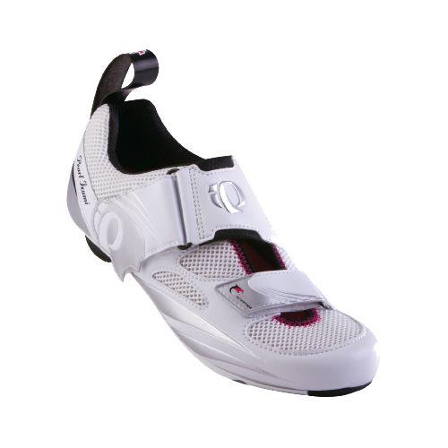 Womens Pearl Izumi P.R.O Series Tri Fly IV Carbon Cross Training Shoe - White/Silver 36.5 ...
