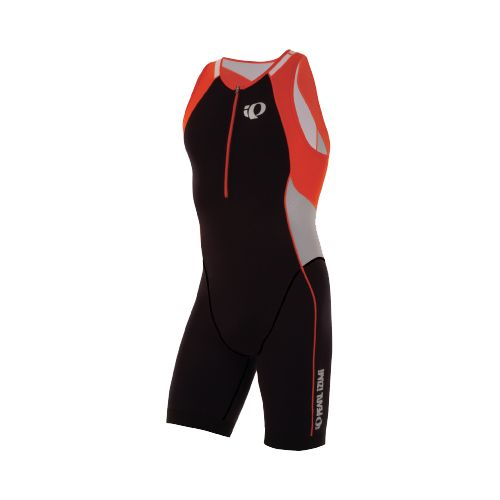 Mens Pearl Izumi ELITE In-R-Cool Tri UniSuits - Black/Cherry Tomato XL