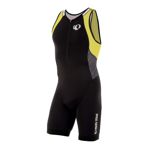 Mens Pearl Izumi ELITE In-R-Cool Tri UniSuits - White/Blazing Yellow XL