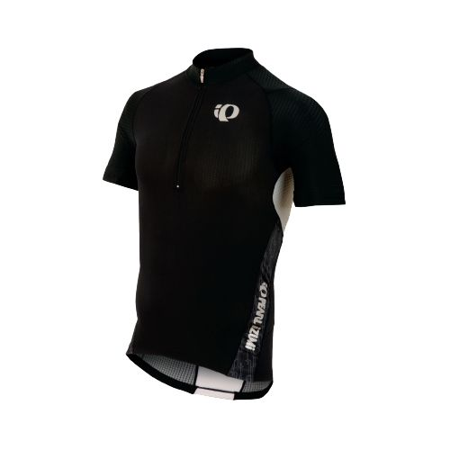 Mens Pearl Izumi ELITE In-R-Cool Tri Jersey Short Sleeve Technical Tops - Black/Black Turnout S ...