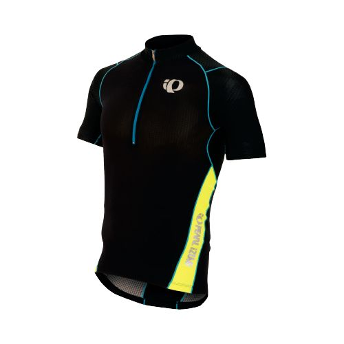 Mens Pearl Izumi ELITE In-R-Cool Tri Jersey Short Sleeve Technical Tops - Black/Screaming ...