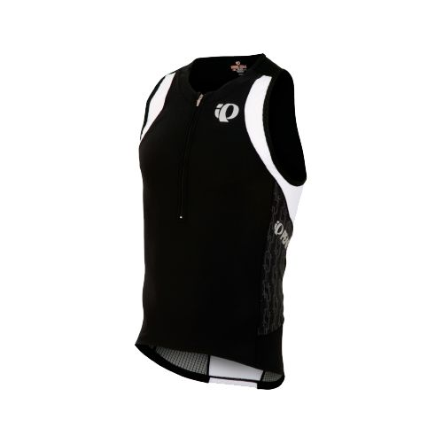 Mens Pearl Izumi ELITE In-R-Cool Tri Singlets Technical Tops - Black/Black Turnout S