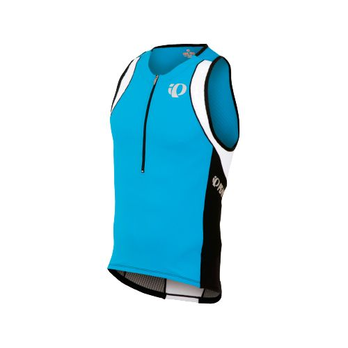 Mens Pearl Izumi ELITE In-R-Cool Tri Singlets Technical Tops - Electric Blue/Black M