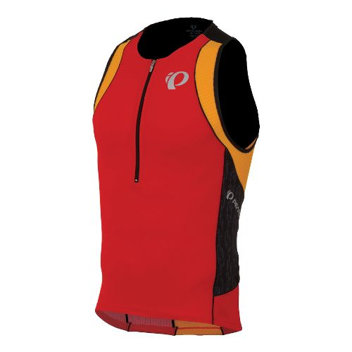 Mens Pearl Izumi ELITE In-R-Cool Tri Singlets Technical Tops - Fiery Red/Black M