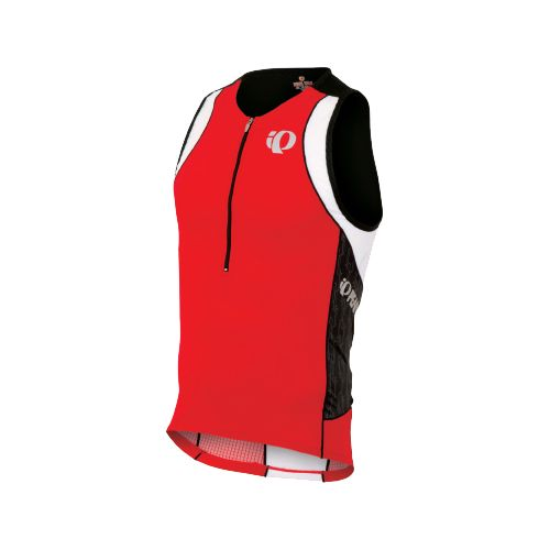 Mens Pearl Izumi ELITE In-R-Cool Tri Singlets Technical Tops - True Red/Black Turnout XL