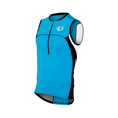 Mens Pearl Izumi ELITE In-R-Cool Tri Jersey Sleeveless Technical Tops - Electric Blue/Black L