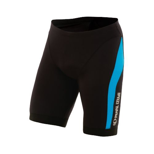 Mens Pearl Izumi ELITE In-R-Cool Tri Short Long Fitted Shorts - Black/Electric Blue L