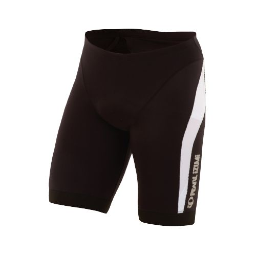 Mens Pearl Izumi ELITE In-R-Cool Tri Short Long Fitted Shorts - Black/White L