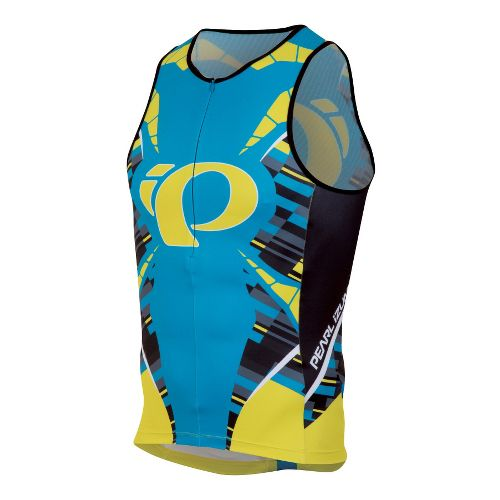Mens Pearl Izumi ELITE In-R-Cool LTD Tri Singlets Technical Tops - Blockstripe M
