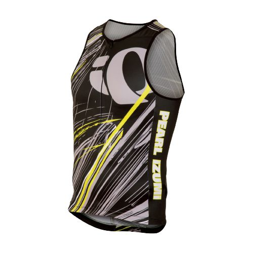 Mens Pearl Izumi ELITE In-R-Cool LTD Tri Singlets Technical Tops - Slash Screaming Yellow S ...