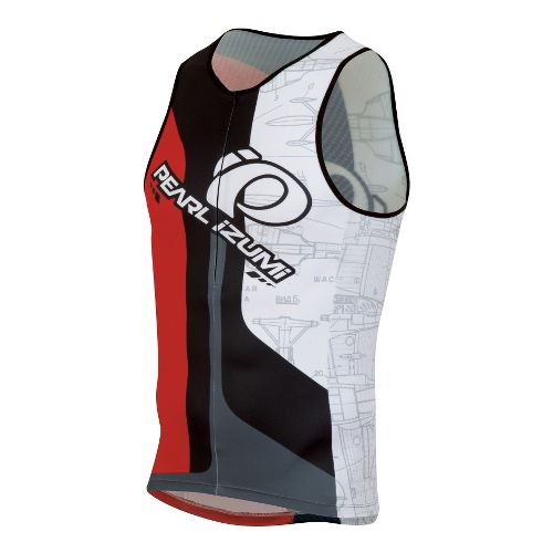 Mens Pearl Izumi ELITE In-R-Cool LTD Tri Singlets Technical Tops - Team Pearl Izumi L ...