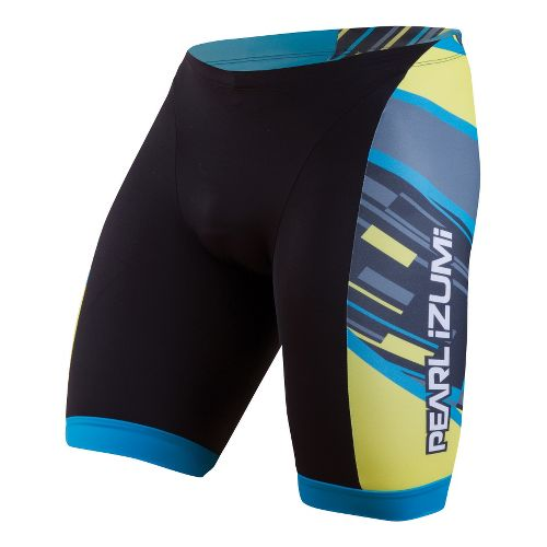 Mens Pearl Izumi ELITE In-R-Cool LTD Tri Fitted Shorts - Blockstripe XL