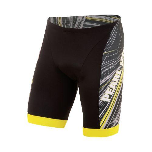 Mens Pearl Izumi ELITE In-R-Cool LTD Tri Fitted Shorts - Slash Screaming Yellow XL