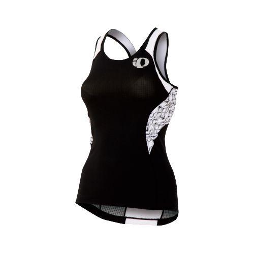 Womens Pearl Izumi Elite In-R-Cool Singlet Sport Top Bras - Black/White Hex M