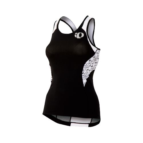 Womens Pearl Izumi Elite In-R-Cool Singlet Sport Top Bras - Black/White Hex XL
