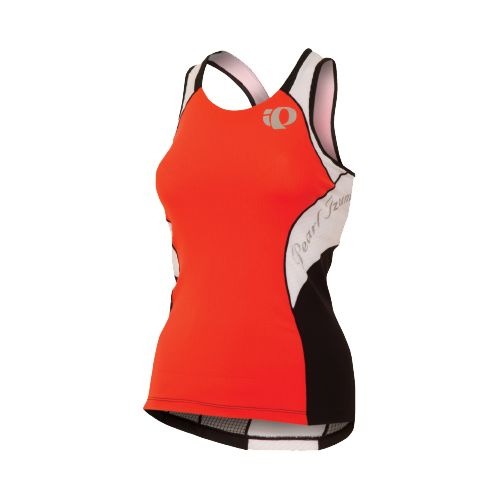 Womens Pearl Izumi Elite In-R-Cool Singlet Sport Top Bras - Cherry Tomato/White M
