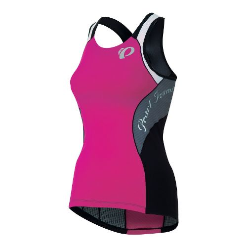Womens Pearl Izumi Elite In-R-Cool Singlet Sport Top Bras - Hot Pink/Stormy XL