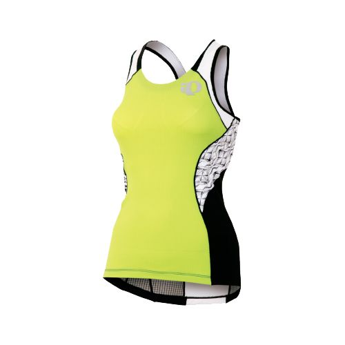 Womens Pearl Izumi Elite In-R-Cool Singlet Sport Top Bras - Lime/White XL