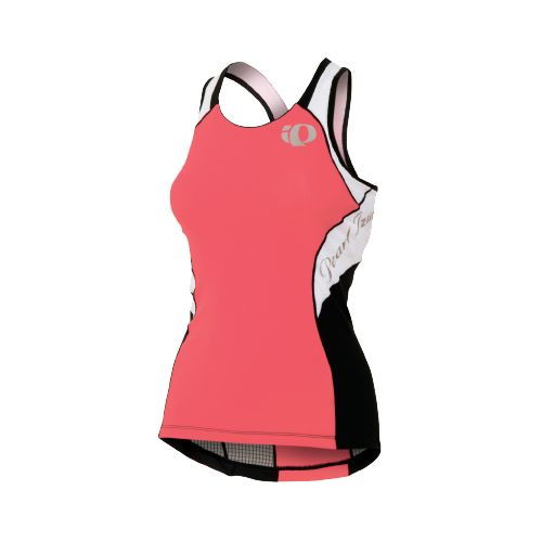 Womens Pearl Izumi Elite In-R-Cool Singlet Sport Top Bras - Paradise Pink/White XS