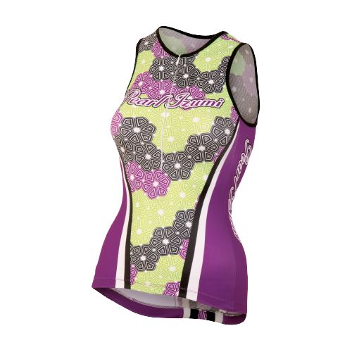 Womens Pearl Izumi Elite In-R-Cool LTD Tri Singlets Technical Tops - Fleurette Orchid M