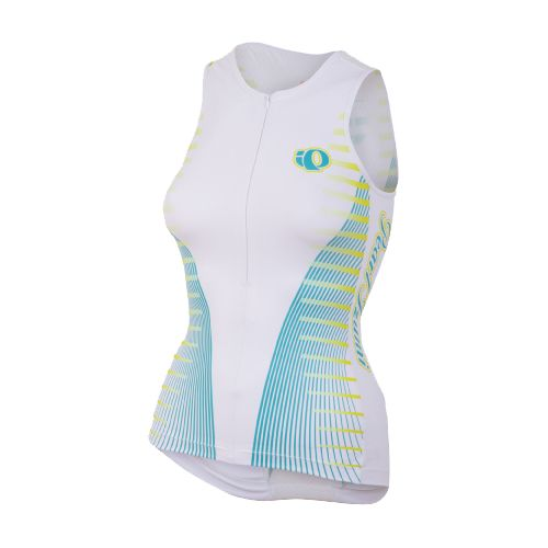 Womens Pearl Izumi Elite In-R-Cool LTD Tri Singlets Technical Tops - Futuristic Scuba Blue XL ...