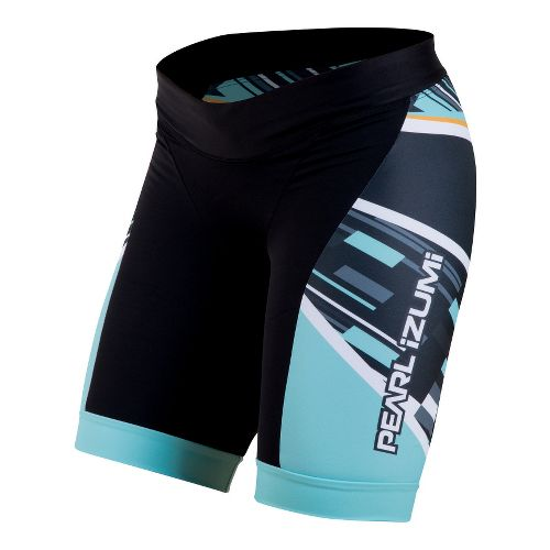 Womens Pearl Izumi Elite In-R-Cool LTD Tri Fitted Shorts - Blockstripe S