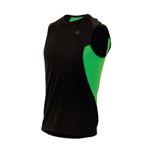 Mens Pearl Izumi Ultra Inside-Out Singlet Technical Tops - Black/Fairway XL