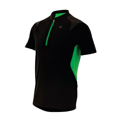 Mens Pearl Izumi Ultra Inside-Out Zip Short Sleeve Technical Tops - Black/Fairway XL