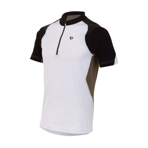 Mens Pearl Izumi Ultra Inside-Out Zip Short Sleeve Technical Tops - White L