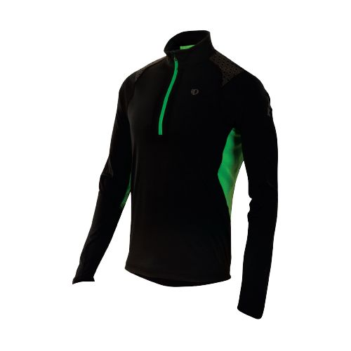 Mens Pearl Izumi Ultra Inside-Out Long Sleeve 1/2 Zip Technical Tops - Black/Fairway XL