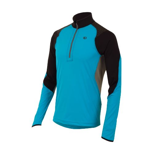 Mens Pearl Izumi Ultra Inside-Out Long Sleeve 1/2 Zip Technical Tops - Electric Blue L ...