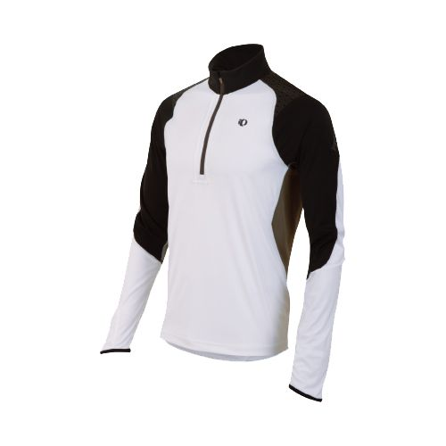 Mens Pearl Izumi Ultra Inside-Out Long Sleeve 1/2 Zip Technical Tops - White M