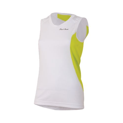 Womens Pearl Izumi Ultra Inside-Out Singlet Technical Tops - White/Lime L
