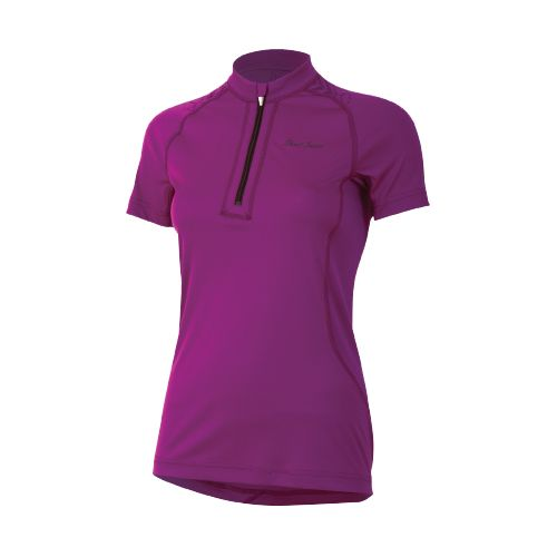 Womens Pearl Izumi Ultra Inside-Out Zip Short Sleeve Technical Tops - Orchid XL