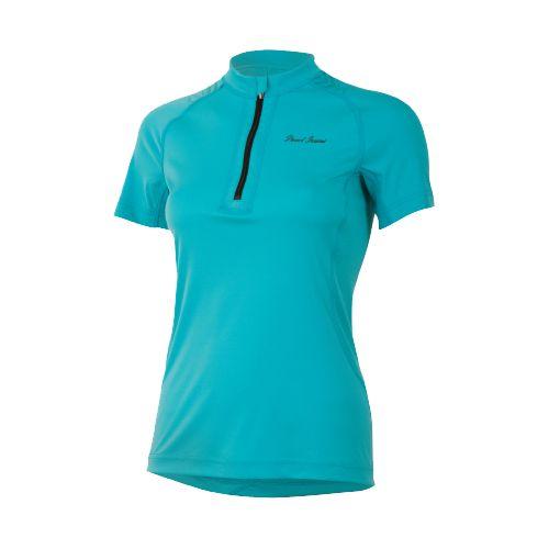 Womens Pearl Izumi Ultra Inside-Out Zip Short Sleeve Technical Tops - Scuba Blue S