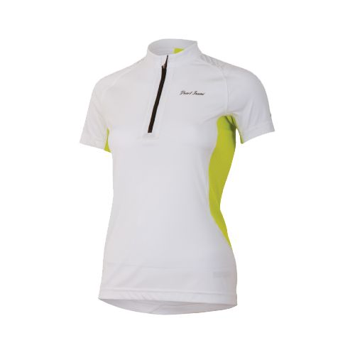 Womens Pearl Izumi Ultra Inside-Out Zip Short Sleeve Technical Tops - White/Lime XL