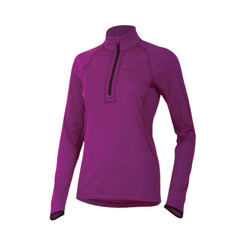 Womens Pearl Izumi Ultra Inside-Out Long Sleeve 1/2 Zip Technical Tops - Orchid L