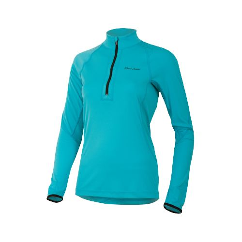 Womens Pearl Izumi Ultra Inside-Out Long Sleeve 1/2 Zip Technical Tops - Scuba Blue S ...