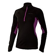 Womens Pearl Izumi Ultra Inside-Out Long Sleeve 1/2 Zip Technical Tops