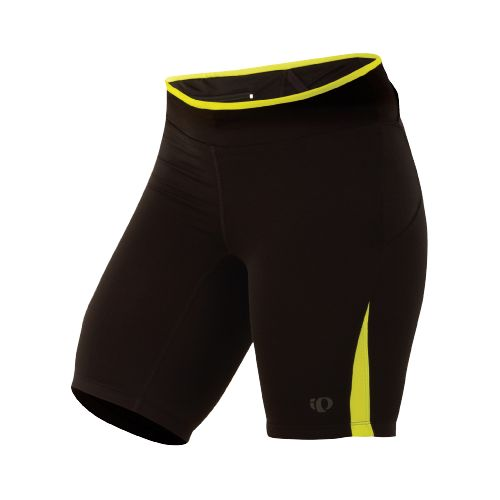 Womens Pearl Izumi Ultra Short Tight Fitted Shorts - Black/Lime L