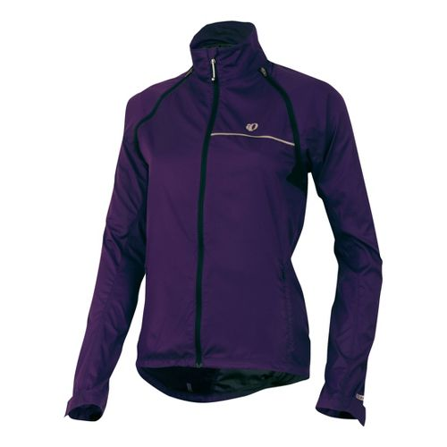 Womens Pearl Izumi Elite Barrier Convertible Running Jackets - Blackberry XL