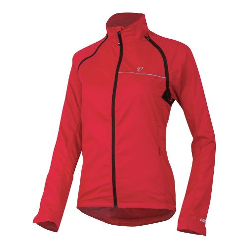 Womens Pearl Izumi Elite Barrier Convertible Running Jackets - Crimson M