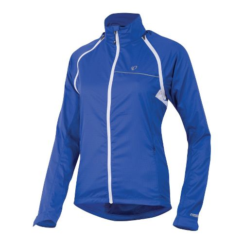 Womens Pearl Izumi Elite Barrier Convertible Running Jackets - Dazzling Blue XXL