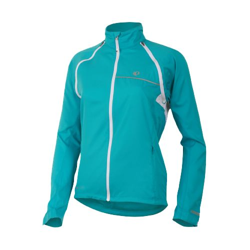 Womens Pearl Izumi Elite Barrier Convertible Running Jackets - Scuba Blue XXL