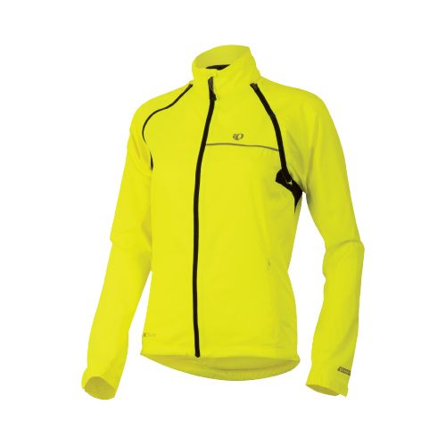 Womens Pearl Izumi Elite Barrier Convertible Running Jackets - Screaming Yellow XS