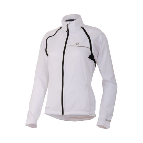 Womens Pearl Izumi Elite Barrier Convertible Running Jackets - White XL