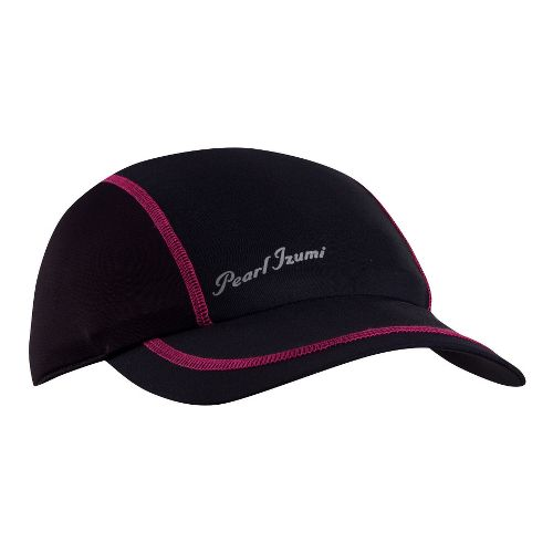Womens Pearl Izumi Infinity In-R-Cool Cap Headwear - Black/Hot Pink