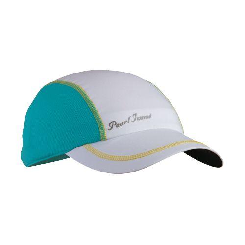 Womens Pearl Izumi Infinity In-R-Cool Cap Headwear - White/Scuba Blue