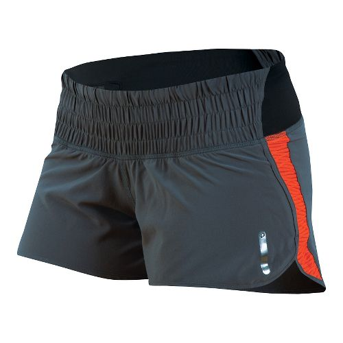 Womens Pearl Izumi Flash Lined Shorts - Shadow Grey/Red S